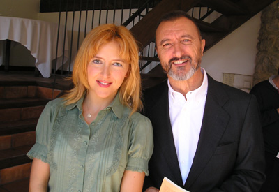 Irene Zoe Alameda with Arturo Perez Reverte in Lessons and Teachers (June 2008)