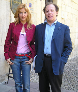 Irene Zoe Alameda with Javier Marias in Lessons and Teachers (June 2008)