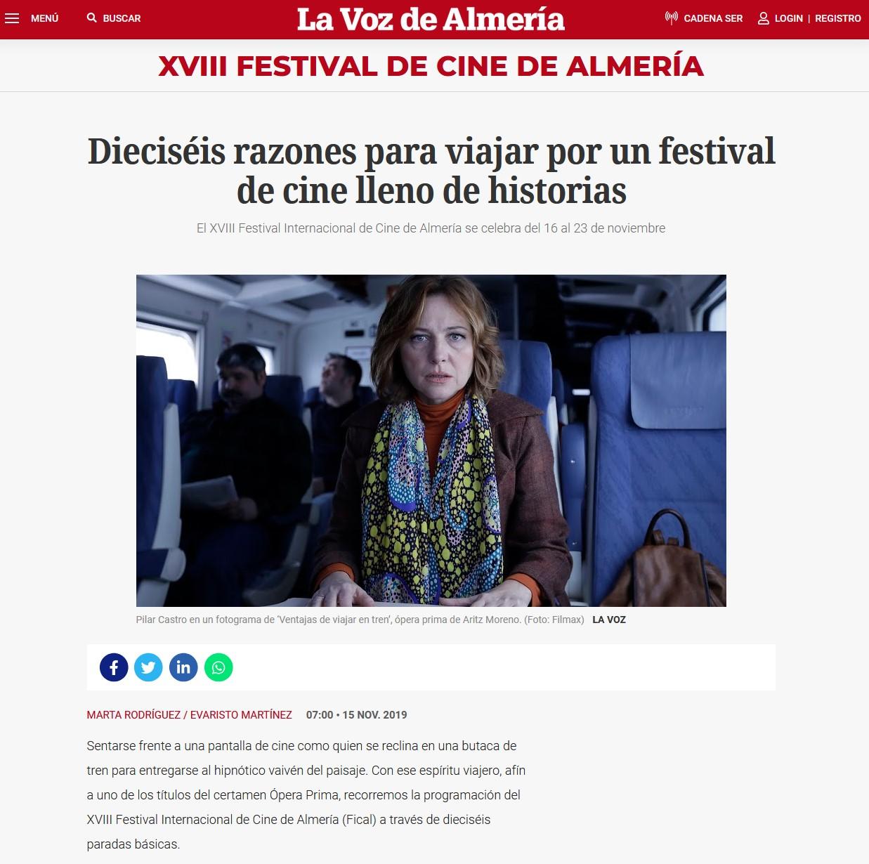 Dieciséis razones para viajar por un festival de cine lleno de historias