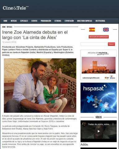 Irene Zoe Alameda debuta en el largo con 'La cinta de Álex'