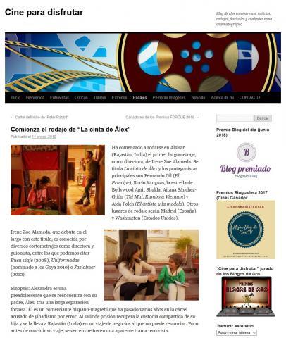 """Comienza el rodaje de """"La cinta de Álex"""""""