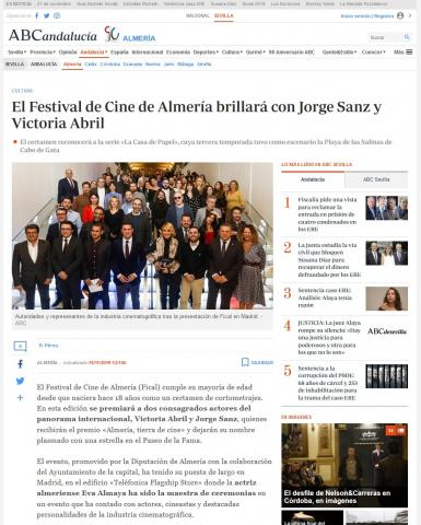 El Festival de Cine de Almería brillará con Jorge Sanz y Victoria Abril