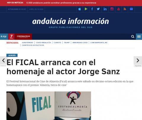 El FICAL arranca con el homenaje al actor Jorge Sanz