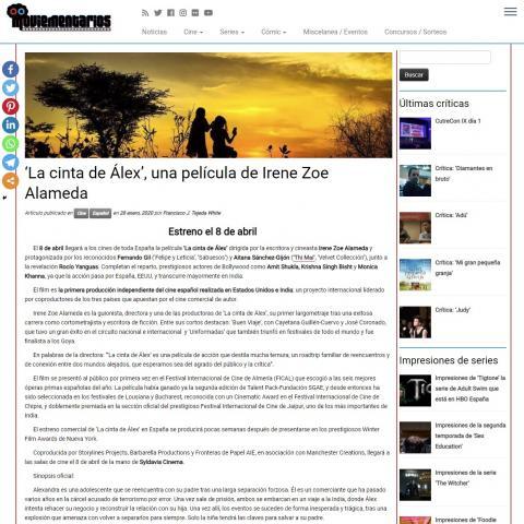 'La cinta de Álex', una película de Irene Zoe Alameda