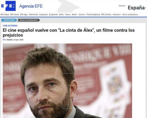 """El cine español vuelve con """"La cinta de Álex"""", un filme contra los prejuicios"""