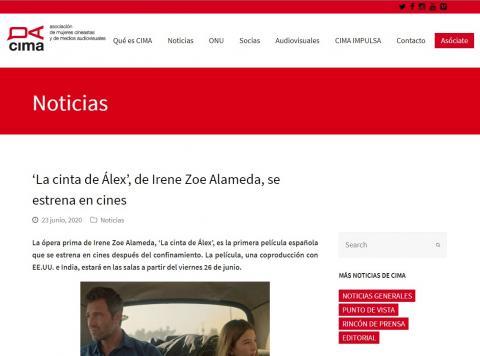 'La cinta de Álex', de Irene Zoe Alameda, se estrena en cines