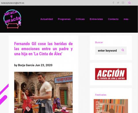 Fernando Gil cose las heridas de las emociones entre un padre y una hija en 'La Cinta de Álex'