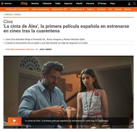 'Alex's Strip', the first Spanish film to be released in theaters after quarantine
