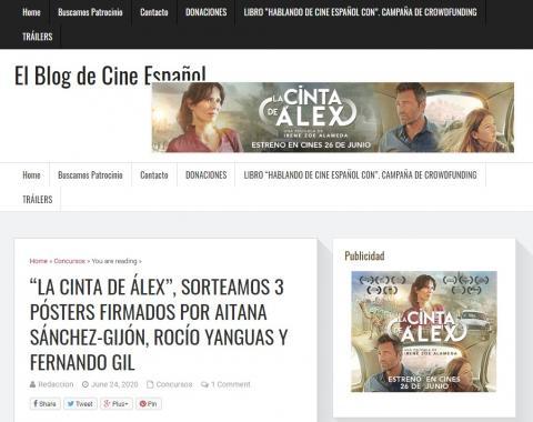 """""""La cinta de Álex"""", sorteamos 3 pósters firmados por Aitana Sánchez-Gijón, Rocío Yanguas y Fernando Gil"""