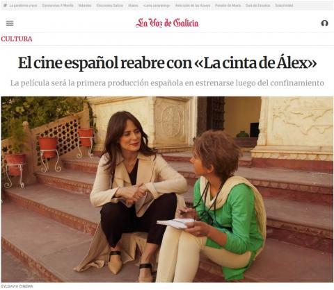 El cine español reabre con «La cinta de Álex»
