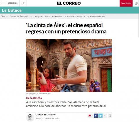 'La cinta de Álex': el cine español regresa con un pretencioso drama