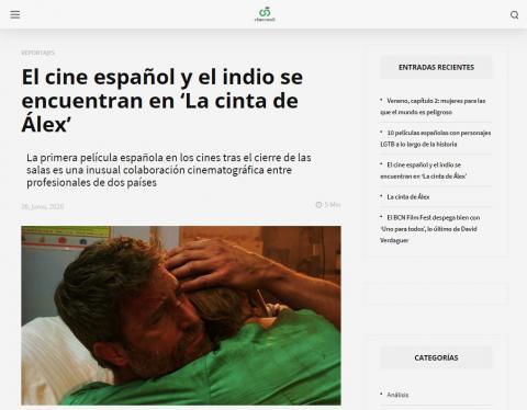 El cine español y el indio se encuentran en 'La cinta de Álex'