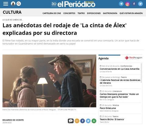 Las anécdotas del rodaje de 'La cinta de Álex' explicadas por su directora