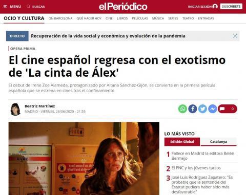 El cine español regresa con el exotismo de 'La cinta de Álex'