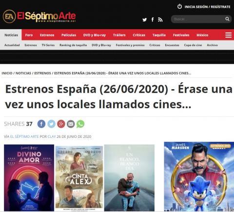 Estrenos España (26/06/2020) - Érase una vez unos locales llamados cines...