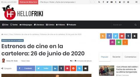 Estrenos de cine en la cartelera: 26 de junio de 2020
