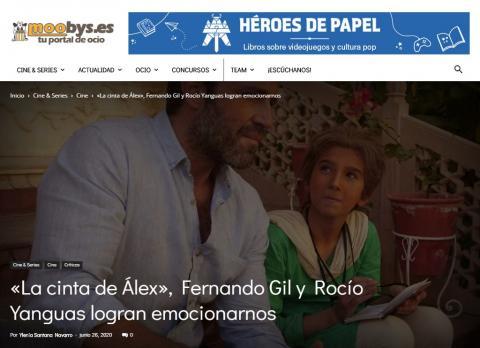 «La cinta de Álex», Fernando Gil y Rocío Yanguas logran emocionarnos