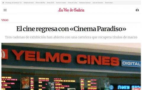 El cine regresa con «Cinema Paradiso»