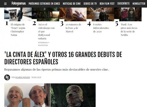'Alex's Strip' and 16 other great Spanish directors' debuts