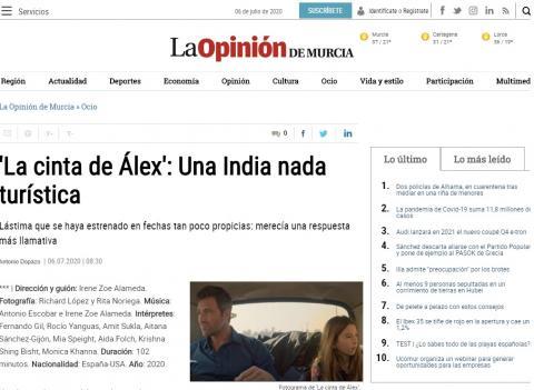 'La cinta de Álex': Una India nada turística