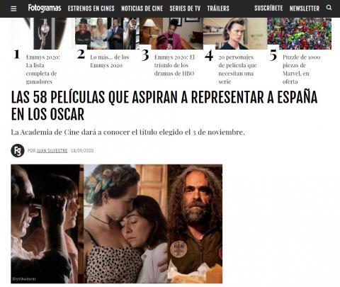 Las 58 películas que aspiran a representar a España en los Oscar
