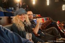 Irene Zoe Alameda con el Compositor Antonio Escobar