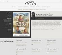 ALEX'S STRIP, candidate to 12 Goya Awards