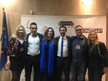 Gala de Entrega de Premios, donde LA CINTA DE ÁLEX ganó el Cinematic Award en el Pallas Theatre (Nicosia, Chipre)