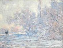 Claude Monet, Le Givre à Giverny, 1885 (detalle)