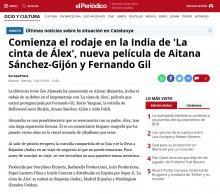 Comienza el rodaje en la India de 'La cinta de Álex', nueva película de Aitana Sánchez-Gijón y Fernando Gil
