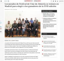The jurors of the Almeria Film Festival meet in Madrid to choose the winners of the XVII edition