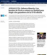ANDALUCÍA.-SaboresAlmería.-Los jurados de Fical se reúnen en Madrid para elegir a los ganadores de la XVII edición