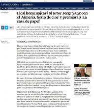 Fical will honor the actor Jorge Sanz with the 'Almeria, land of cinema' and reward 'The paper house'
