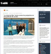 'La cinta de Álex' lucha contra los prejuicios en una película de acción