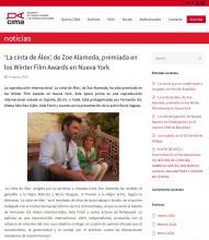 'La cinta de Álex', de Zoe Alameda, premiada en los Winter Film Awards en Nueva York