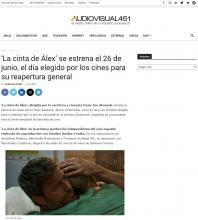'La cinta de Álex' se estrena el 26 de junio, el día elegido por los cines para su reapertura general