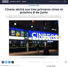 Cinesa will open its first three cinemas on June 8