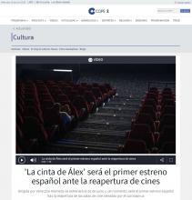 'La cinta de Álex' será el primer estreno español ante la reapertura de cines