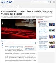 Cinesa will reopen the first theaters in Galicia, Zaragoza and Valencia on June 8