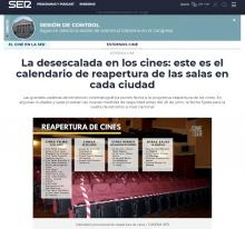 La desescalada en los cines: este es el calendario de reapertura de las salas en cada ciudad