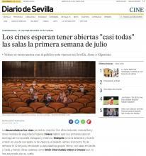 """Los cines esperan tener abiertas """"casi todas"""" las salas la primera semana de julio"""