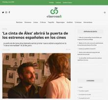 'La cinta de Álex' abrirá la puerta de los estrenos españoles en los cines
