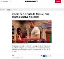 Un clip de 'La cinta de Álex': el cine español vuelve a las salas