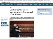 The Goya 2021 do not move and will be celebrated on February 27