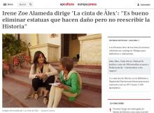 """Irene Zoe Alameda directs 'Alex's Strip': """"It is good to eliminate statues that harm but not to rewrite History"""""""