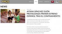 Aitana Sánchez Gijón stars in first Spanish premiere after confinement