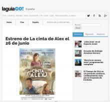 Estreno de La cinta de Alex el 26 de junio