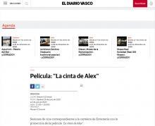 """Película: """"La cinta de Alex"""""""