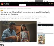 'Alex's Strip', the first premiere after the Alarm State in Spain
