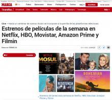 Estrenos de películas de la semana en Netflix, HBO, Movistar, Amazon Prime y Filmin